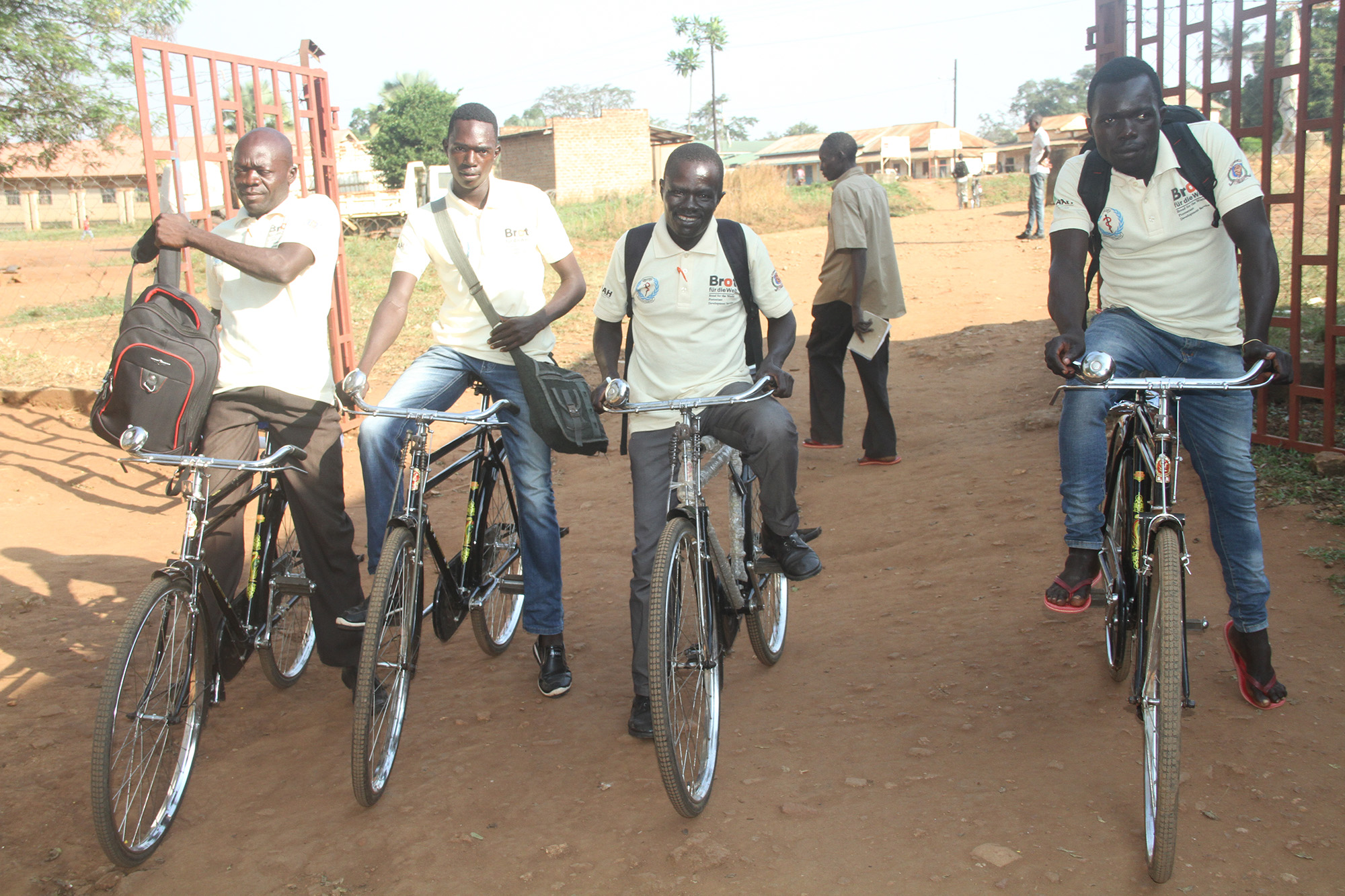 Maridi County Boma Health Team returning from field supervision