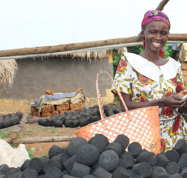 Briquette producer Alphonsine Muhawenimaana AAH Uganda